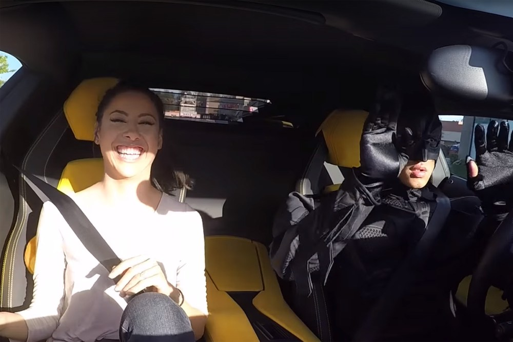 Batman Lamborghini Aventador Uber Prank