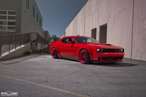 Liberty Walk Dodge Challenger SRT Hellcat with PUR LG06 Forged Wheels