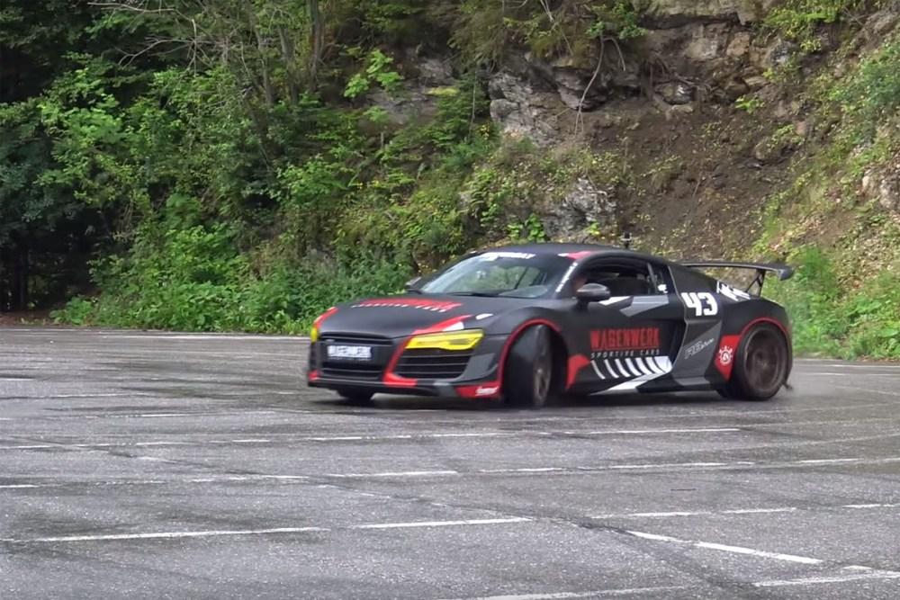 Twin-Turbo Audi R8 Hooniganism