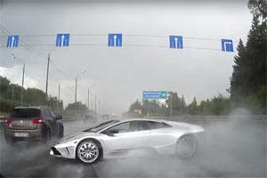 Friday FAIL: Lamborghini Murcielago Crash in Rain