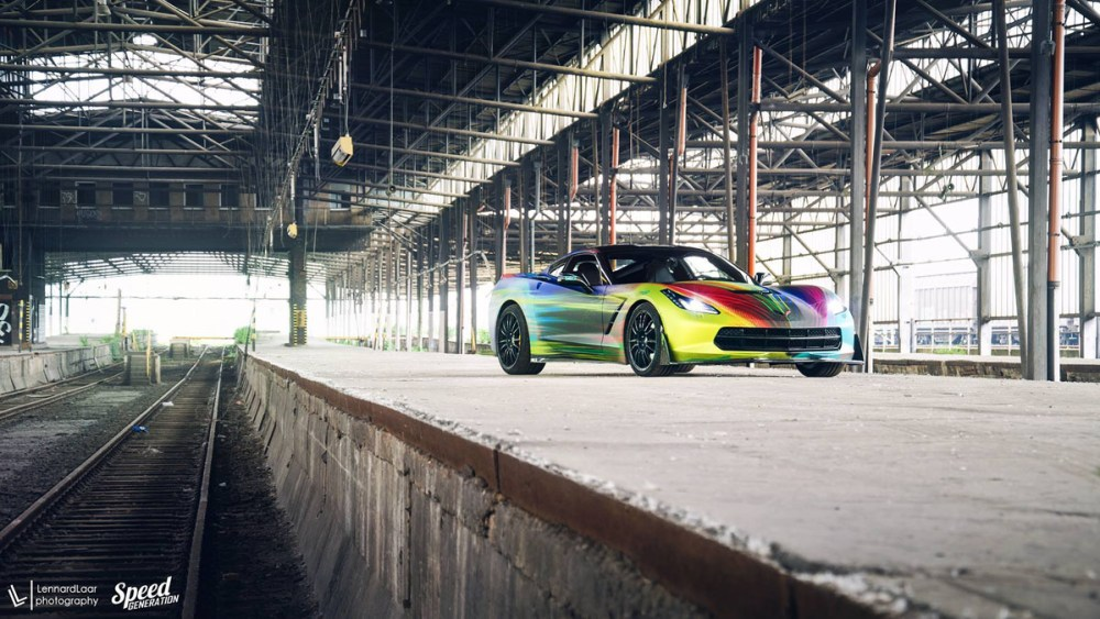 Rainbow Chevrolet Corvette with Fondmetal 9RR wheels by Lennard Laar Photography