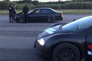 E34 BMW M5 Beats Bugatti Veyron