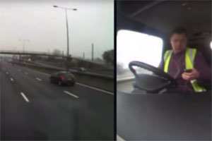 Friday FAIL: Truck Driver Texting and Driving