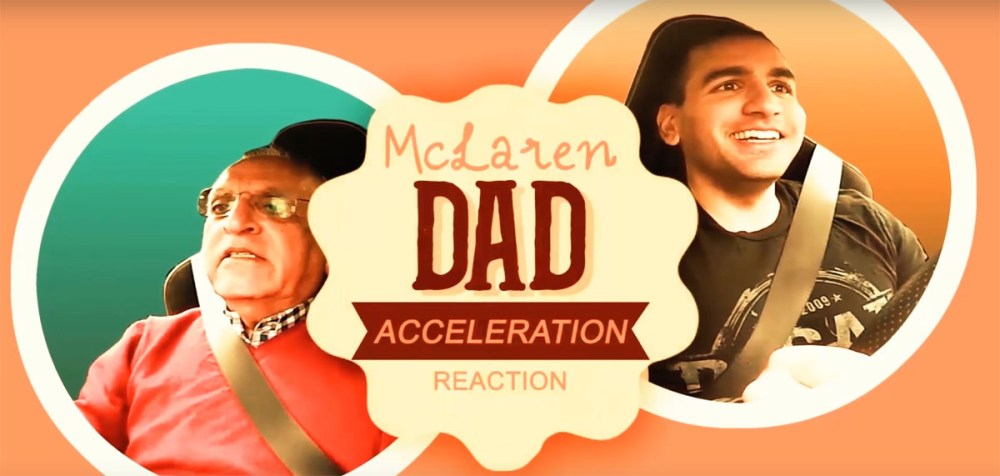 McLaren 650S Spider Dad Reaction Video
