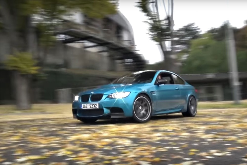 E92 BMW M3 Drift in Prague