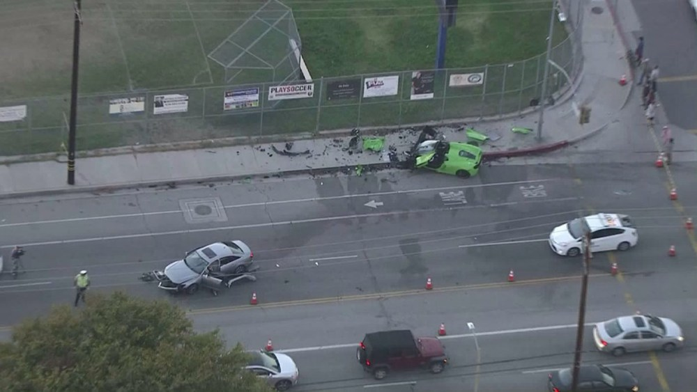McLaren Street Racing Crash LA