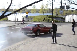 Chevy Camaro Burnout Fail