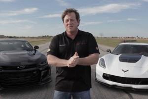 John Hennessey Camaro ZL1 vs Corvette Z06