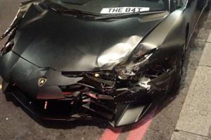 Lamborghini Aventador SV Crash