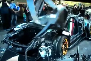 Illegally imported Lamborghini Murceiago Destroyed