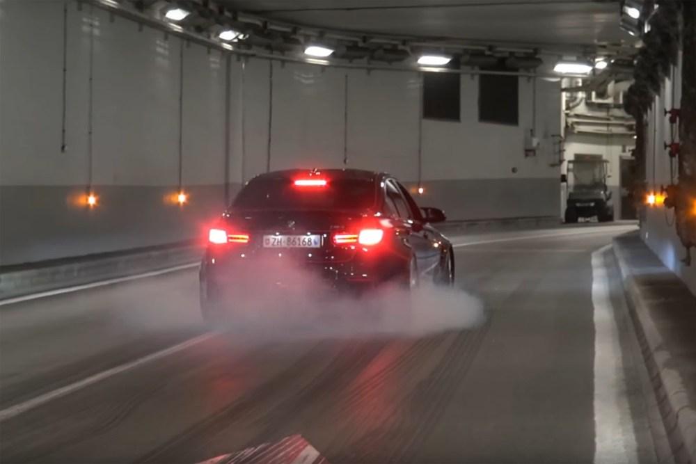 Sports Car Launches Monaco Tunnel