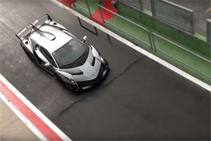 Lamborghini Veneno Wet Track