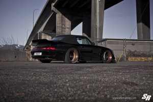 RWB 993 Porsche 911 with PUR LG01 Wheels by SR Auto Group