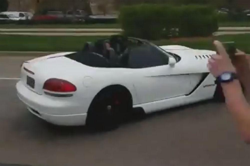 Dodge Viper Crash Leaving Car Show