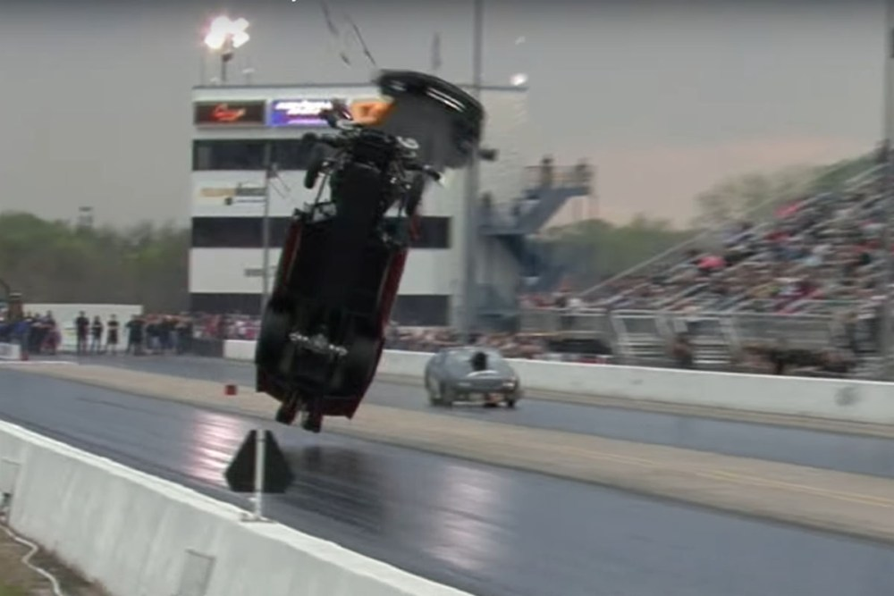 Friday FAIL Chevrolet Corvette Crash at the Drag Strip