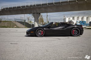 Ferrari 488 Spider with PUR FL26 Wheels by SR Auto Group