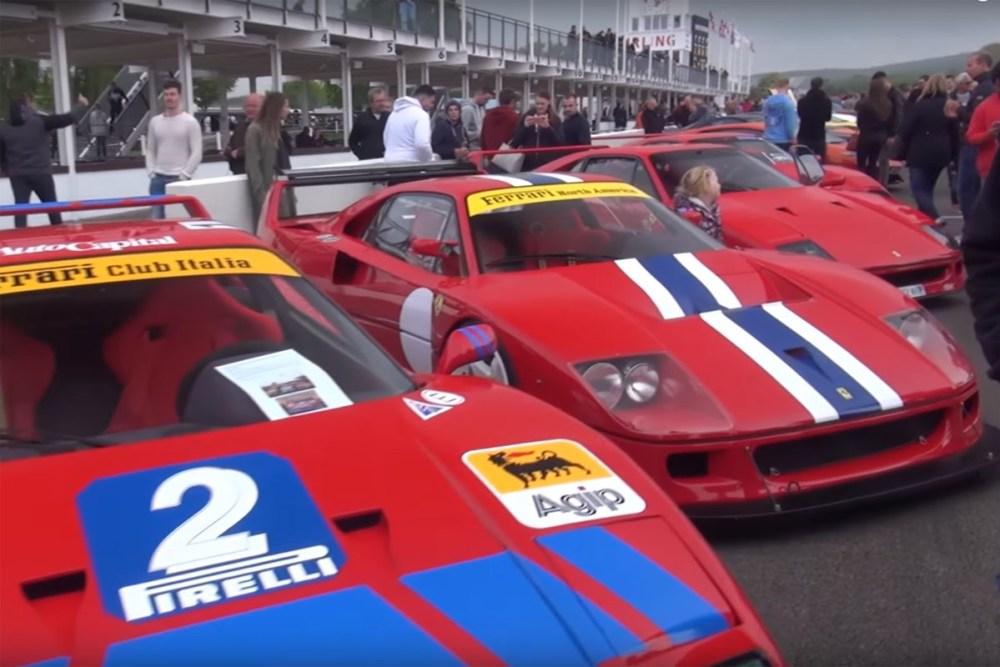 Ferrari F40s Goodwood Breakfast Club