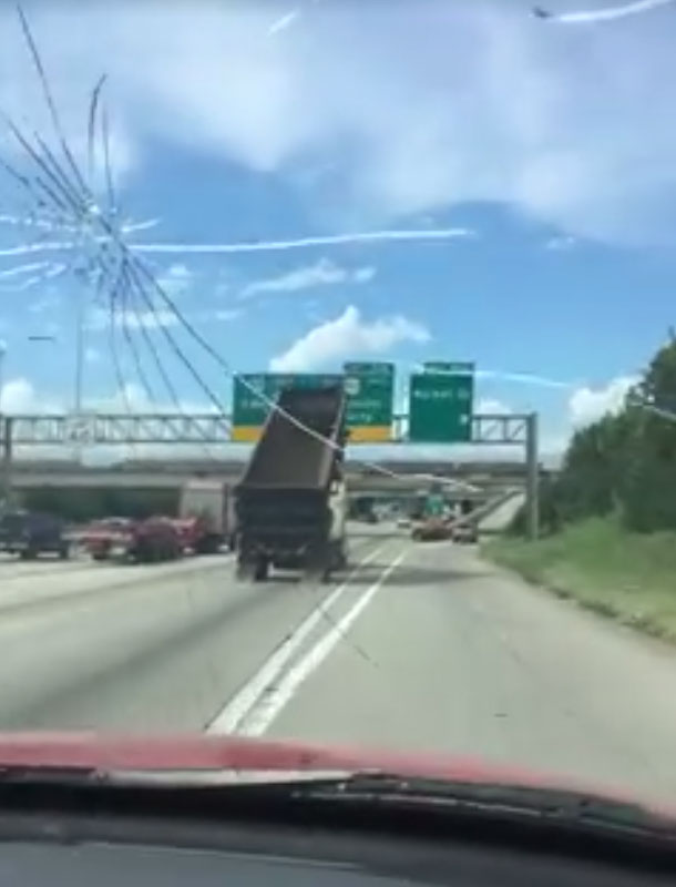 Dump Truck Raised Bed Crash