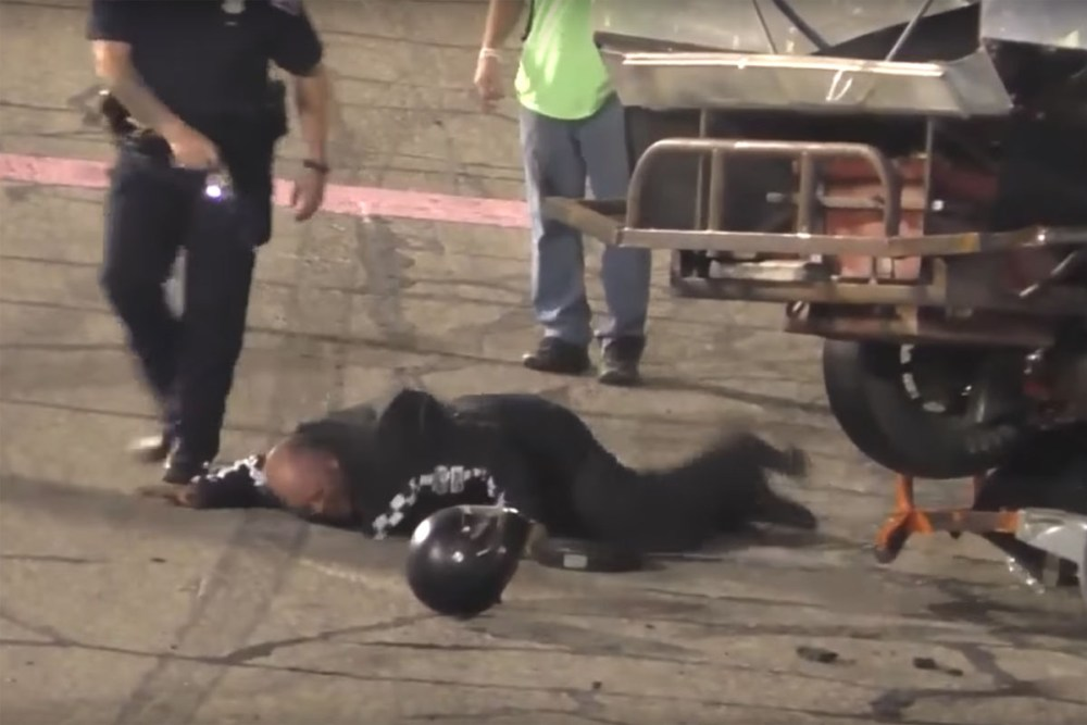Friday FAIL: Tased at the Track