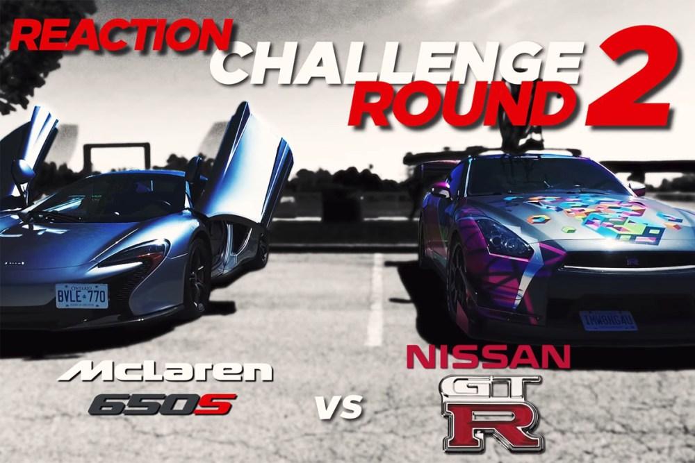 McLaren 650S Spider vs Nissan GT-R Reaction Challenge