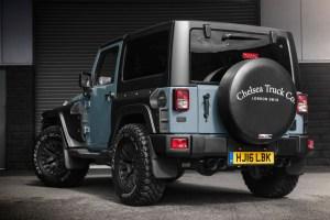 Anvil Clearcoat over Satin Black Chelsea Truck Company Jeep Wrangler Sahara Black Hawk Wide Track Edition
