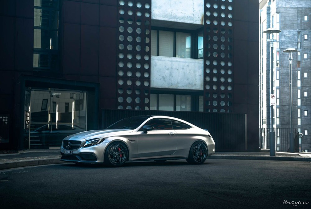 Mercedes-AMG C63 S Coupe with Brixton Forged PF1 Targa Series Wheels