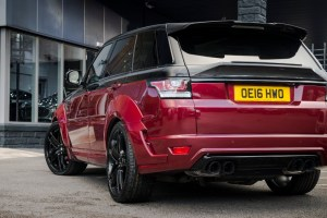 Project Kahn Piano Black over Deep Red Range Rover Sport Autobiography Dynamic Pace Car