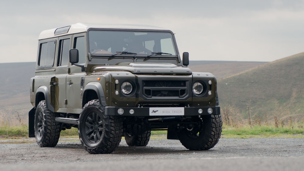 Fungus Green Chelsea Truck Company Land Rover Defender Station Wagon Chelsea Wide Track