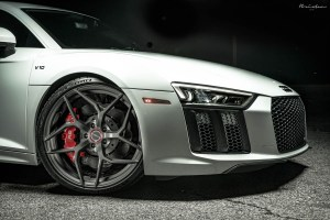 Joel Dunn Suzuka Grey Audi R8 V10 with Brixton Forged PF5 Ultrasport+ Wheels