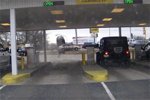 Friday FAIL Bank Drive Thru Crash