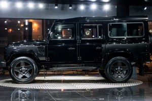 Aston Martin Storm Black Land Rover Defender 110 Station Wagon Chelsea Wide Track