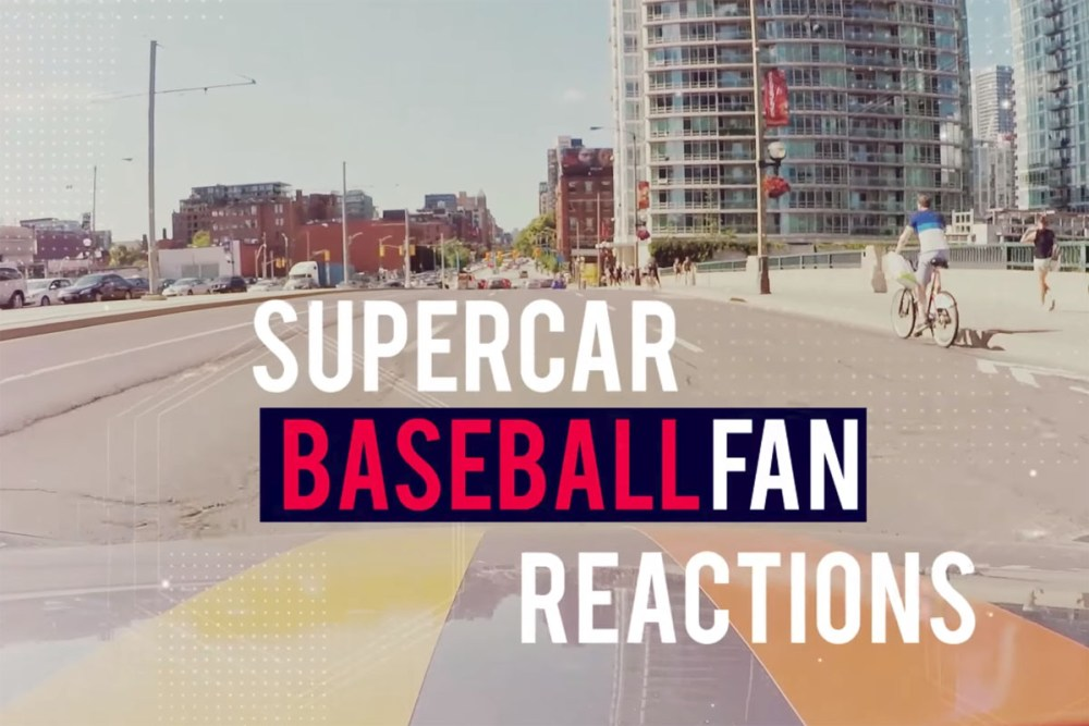 Baseball Fans Supercar Reactions