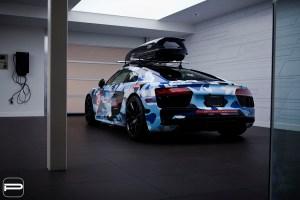 Camo Audi R8 with PUR FL26 Wheels