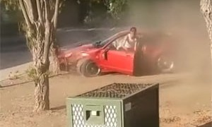 friday fail ford mustang v-6 crash