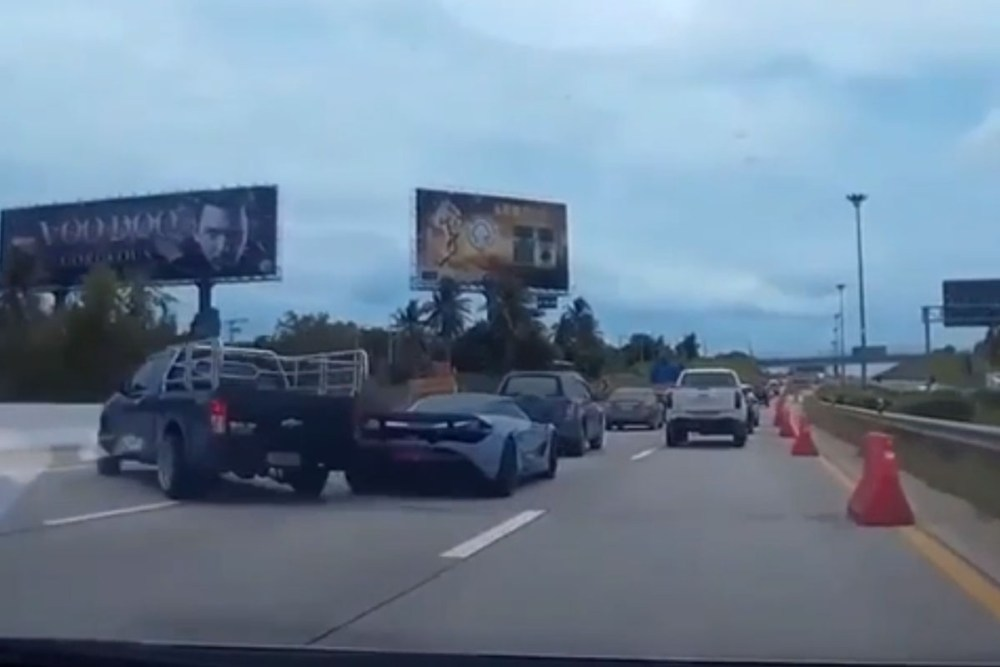 Friday FAIL Ford F150 Crashes into McLaren 720S