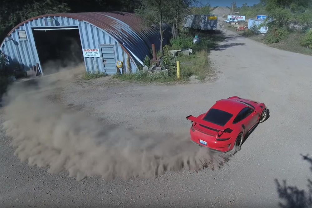 Porsche 911 GT3 RS Quarry Hoonage