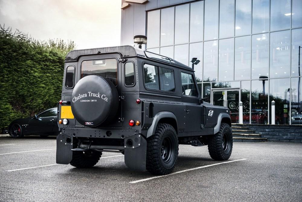 Chelsea Truck Company Land Rover Defender Coach built Flying Huntsman 105 Long Nose