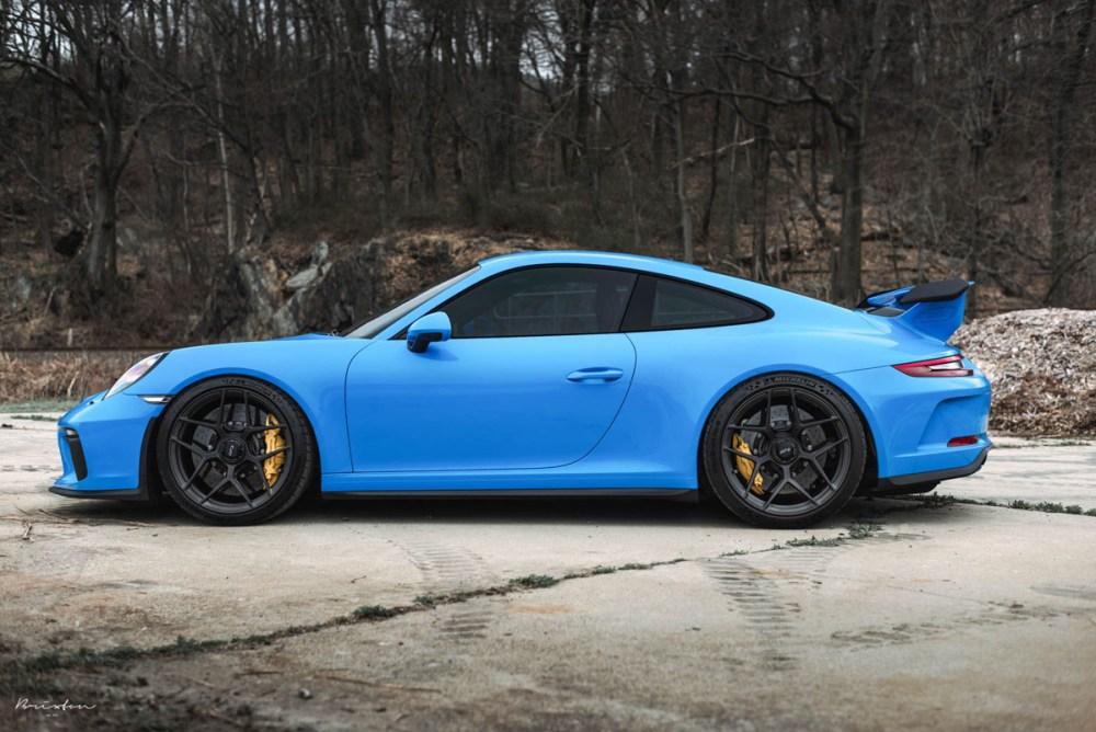 Mexico Blue 991.2 Porsche 911 GT3 Brixton Forged PF7 Ultrasport+ Wheels