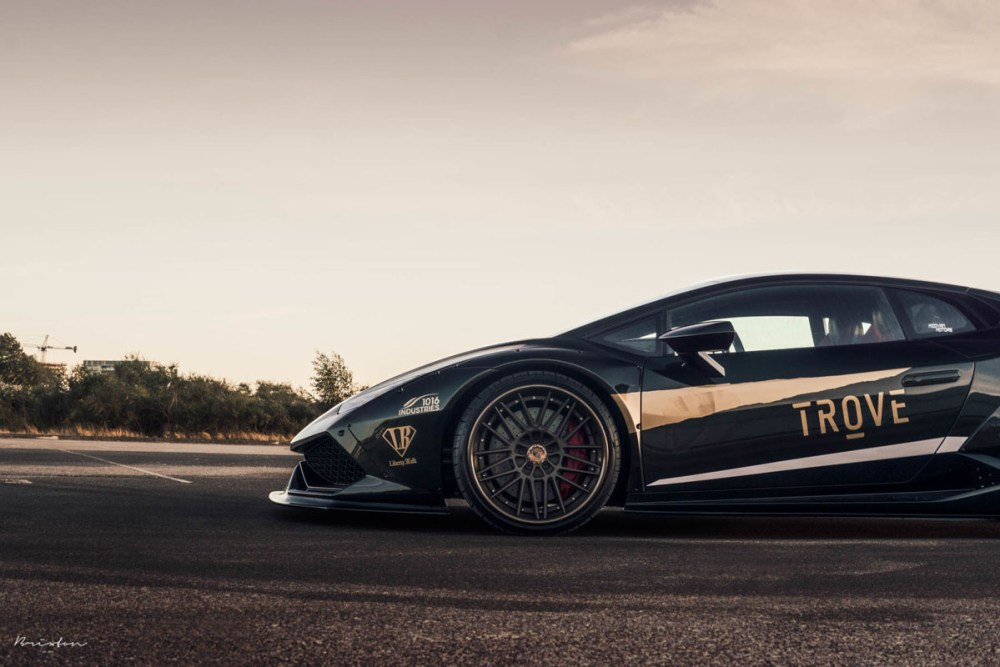 Liberty Walk Lamborghini Huracan with Brixton Forged VL7 Targa Series Wheels by MWDesign Technik