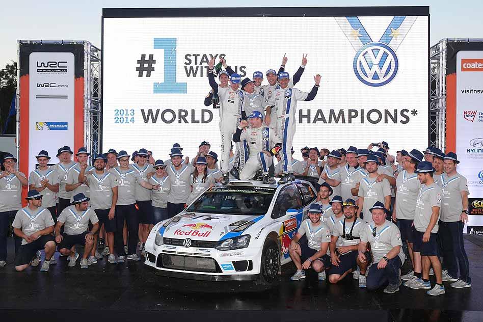 Volkswagen WRC manufacturer's title victory