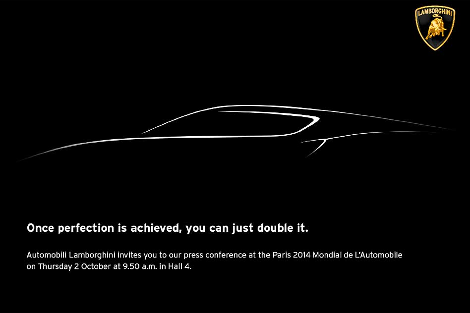 Lamborghini teases Paris Motor Show 2014 car