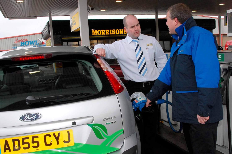 Morrisons fuel filling station