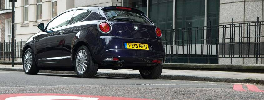 Alfa Romeo Mito within the London Congestion Charge zone