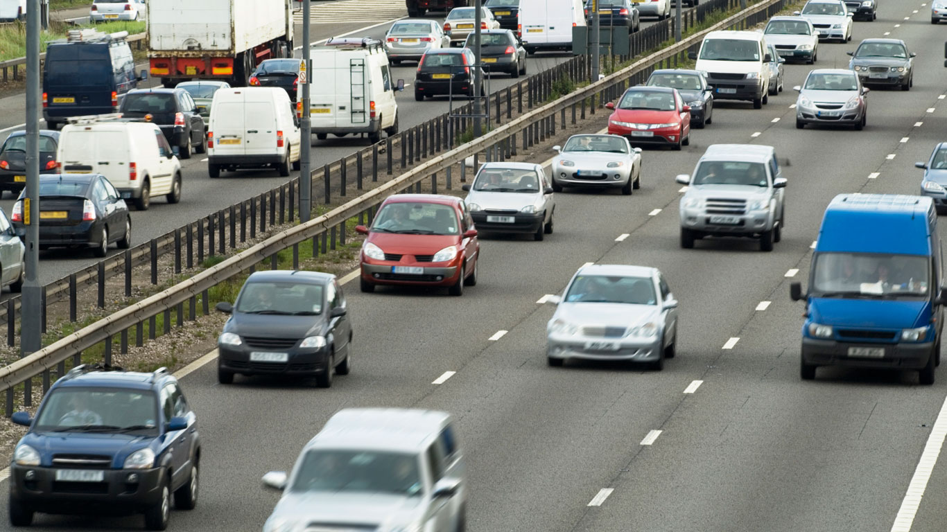 UK road congestion as its worst for over 10 years