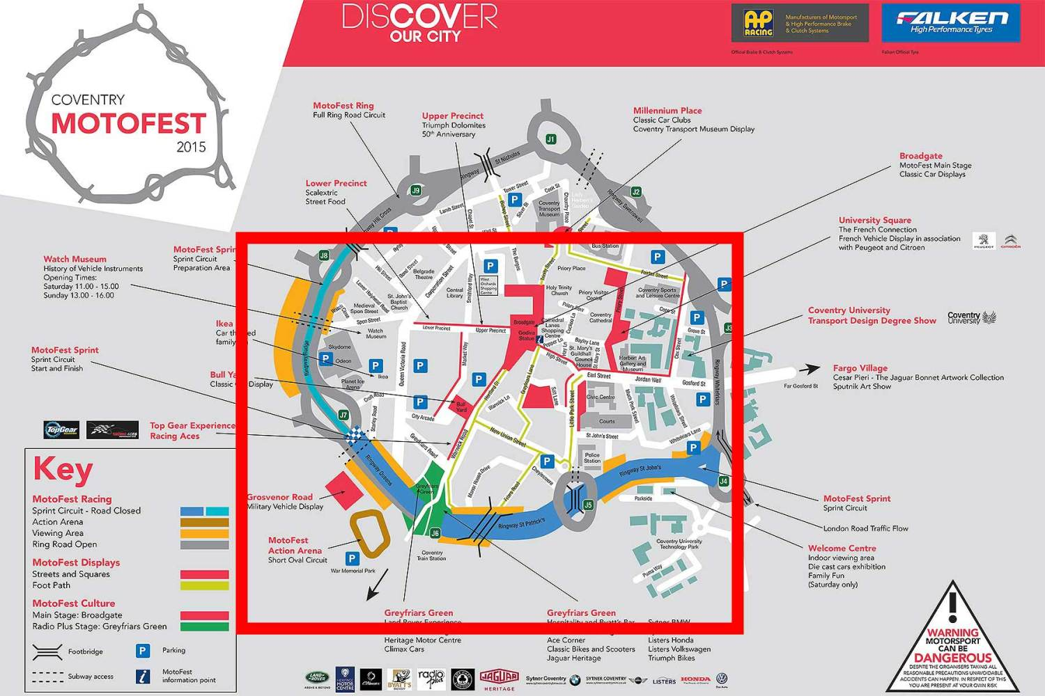 Coventry MotoFest 2015 road closures