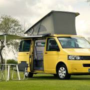 Festival-goers snub tents in favour of luxury campervans