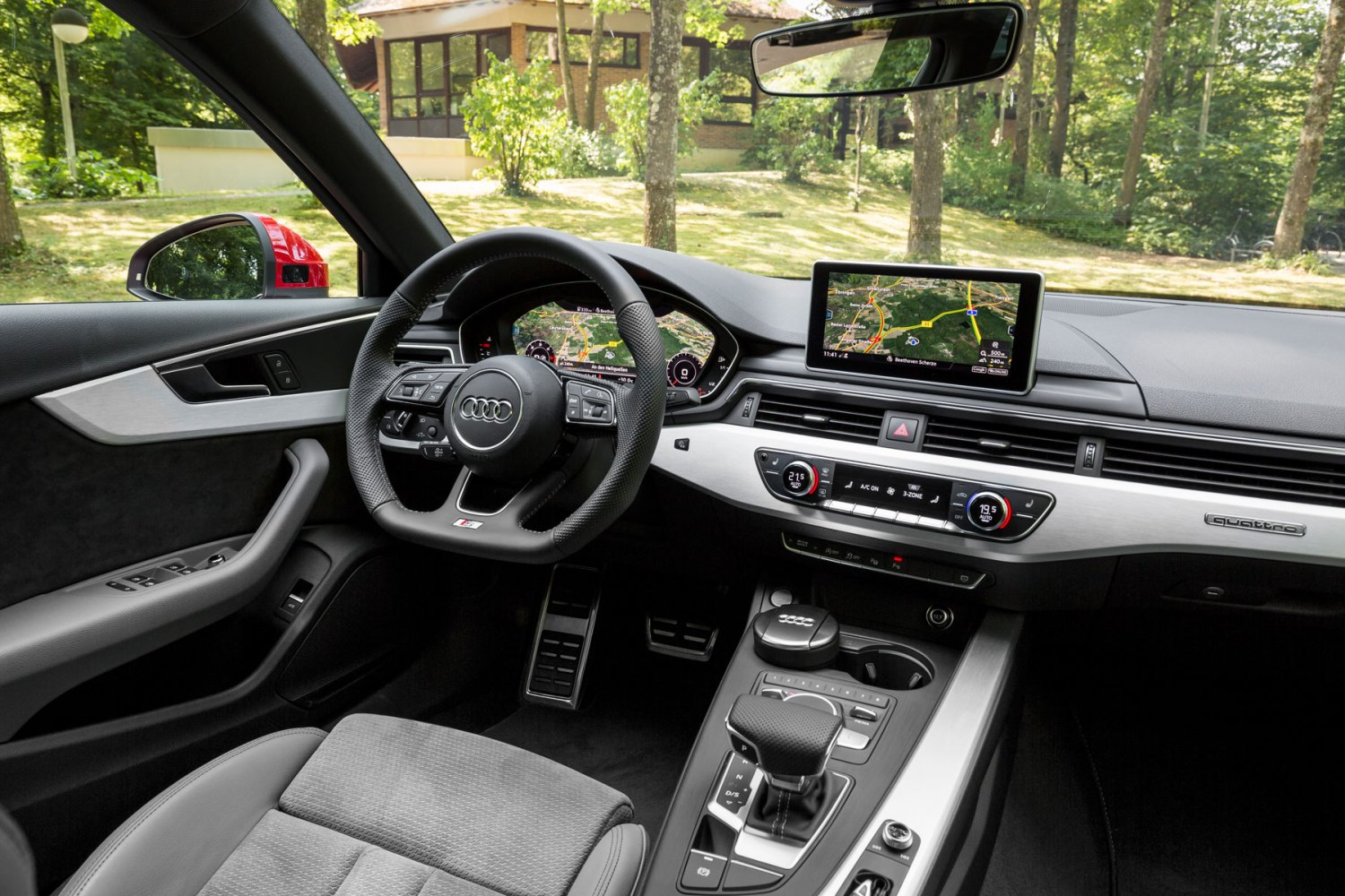 2016 Audi A4: on the inside