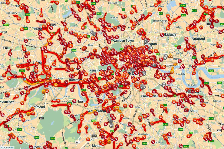 TomTom traffic map