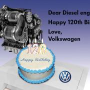 Volkswagen Diesel Engine With Cake