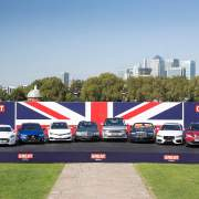 A collection of British-built cars